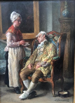 The Imaginery Invalid, Oil on board Signed Leon Dansaert, circa 1870