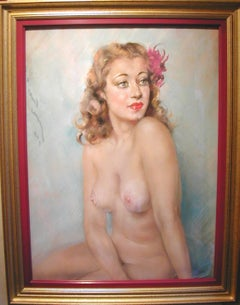 Simone, Pastel On Paper, Signed Jean-Albert Grand-Carteret