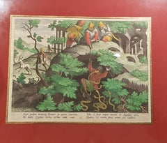 Hunting Engraving: Hunting Ibex With Snakes