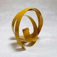 Corbant Yellow 06 - Metal, Abstract Sculpture, 21st Century, Rafael Amoros