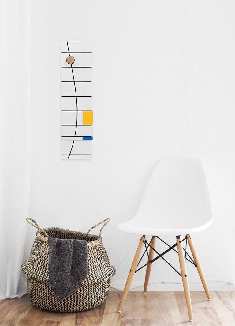 Ação direta I - Abstract Sculpture, Wood, Acrylic, 21st Century, Acacio Viegas For Sale 3