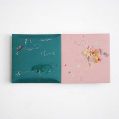 Two paintings (Pink and Pink and the others) - Abstract Sculpture, Masaya Eguchi