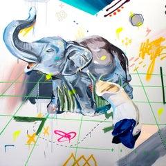 Herencias 6 - Painting, Mixed Media, Pop Art, Street Art, Alejandra de la Torre