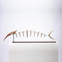 Pieza 701 - Abstract Sculpture, Wood, Fish, 21st Century, Antoni Yranzo, 2007