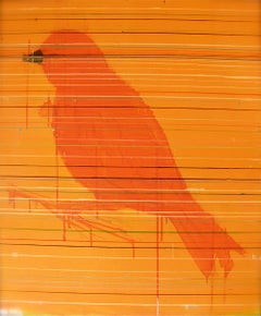 Pájaro - Oil painting, Pop Art, 21st Century, Alonso Núñez del Prado, 2015