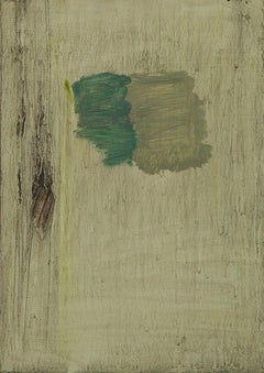 Bleak - Expressionist, Abstract Painting, Contemporary, Art, Green, Karl Bielik