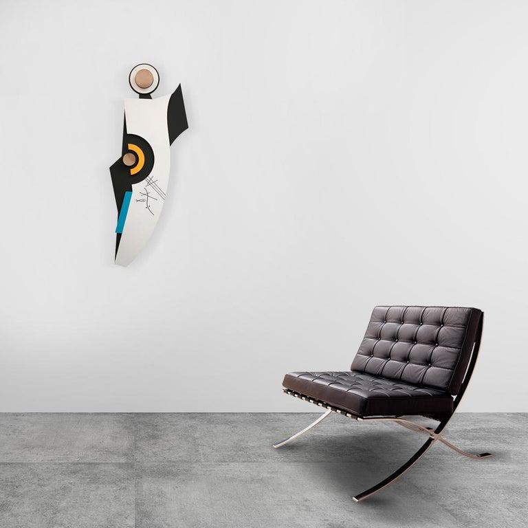 Ação sem contradição II - Abstract Sculpture, Wood, 21st Century, Acacio Viegas For Sale 4