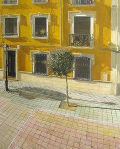 Sol - Oil Painting, Realism, Contemporary, Art, Yellow, Tree, Félix de la Concha