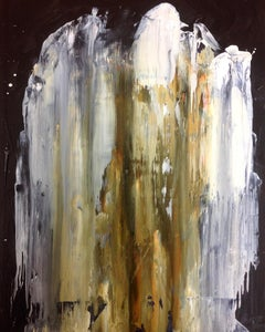 Blank - Expressionist, Abstract Painting, Contemporary, Art, Wood, Karl Bielik
