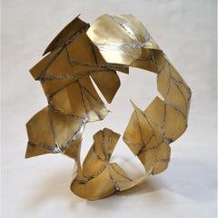 Unit 44 - Brass Golden Sculpture, Abstract, Contemporary, Art, Rafael Amorós
