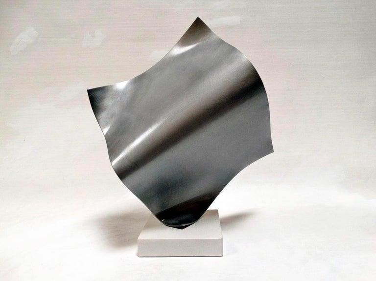 Full - Metal, Abstract Sculpture, Contemporary, Art, Silver, Rafael Amorós