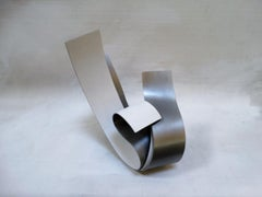 Acull IV - Metal, Abstract Sculpture, Contemporary, Art, Silver, Rafael Amorós
