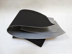 Bi - Metal, Abstract Sculpture, Contemporary, Art, Black, Silver, Rafael Amorós