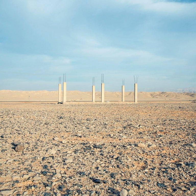 Wadi Rum - Fine Art Photography, Landscape, Contemporary, Art, Roger Grasas - Gray Color Photograph by Roger Grasas