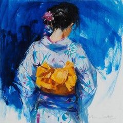 YUKATA IV - Impressionist Painting, Japanese, Contemporary, Art, Mónica Castanys