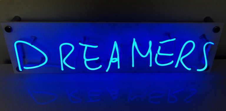 Dreamers - Neon Wall Sculpture, Mixed Media, 21st Century, Kim Anna Smith, 2018 For Sale 2