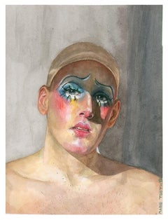 Marfil - Watercolor Painting, Hyperrealism, Contemporary, Art, Drag, Marie Tooth