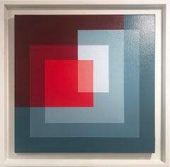 Seashell V - Abstract Geometric Painting, Contemporary, Art, Salvador Santos