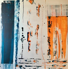Calma Tensa II - Expressionist Painting, Contemporary, Art, Blue, Blanca Gibert