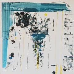 Calma Tensa III - Expressionist Painting, Contemporary, Art, Blue, Blanca Gibert
