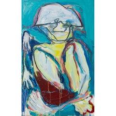 Diplomat sitting like a monkey -  Painting, Acrylic on Canvas, Isabel Rabassa