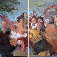 Bakcheia - Abstract Expressionism, Painting, Acrylic, Elías Peña Salvador, 2018