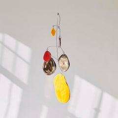Composition III - Abstract Mobile Sculpture, Kinetic, Ceramic, Alejandra Jaimes