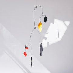 Composition V - Abstract Mobile Sculpture, Kinetic, Ceramic, Alejandra Jaimes