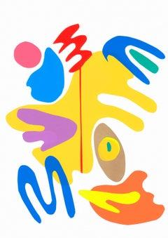 Mediterranean Garden 1 - Collage, Colorful, Mixed Media, 21st Century, Deja Mar