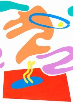 Mediterranean Garden 2 - Collage, Colorful, Mixed Media, 21st Century, Deja Mar