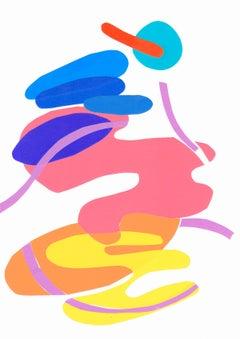 Mediterranean Garden 3 - Collage, Colorful, Mixed Media, 21st Century, Deja Mar