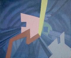 Turismo superficial 13 - Surrealist Oil Painting, 21st Century, Ricardo Gonzalez