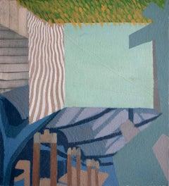 Turismo superficial 15 - Surrealist Oil Painting, 21st Century, Ricardo Gonzalez