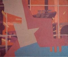 Turismo 17 - Surrealist Painting, Abstract, Contemporary, Art, Ricardo Gonzalez