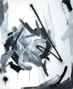 Auto V - Abstract Painting, Oil on Canvas, Contemporary, Art, Antonio Santafé
