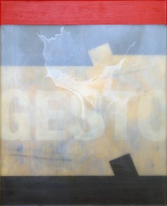 Gesto - Conceptual Painting, Red, White, Contemporary, Art, Norberto Sayegh