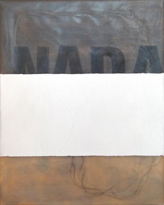Nada - Conceptual Painting, Text, White, Contemporary, Art, Norberto Sayegh