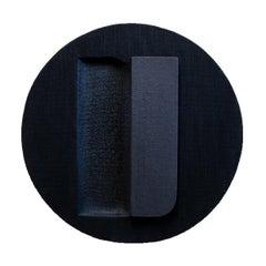 Untitled Black - Abstract Painting, Wall Sculpture, Minimal, Art, Jaime Poblete