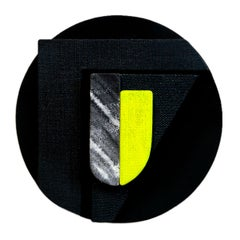 Untitled Black & Yellow - Abstract Painting, Sculpture, Minimal, Jaime Poblete
