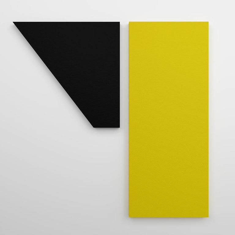 Jaime Poblete explores the limits between sculpture and painting, building his own canvases of different sizes and shapes. Jaime's clean and balanced compositions create a visual dialogue between form and contrasting hues. Visually minimalist and