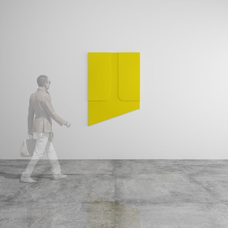 Untitled Yellow - Abstract Painting, Sculpture, Minimalism, Art, Jaime Poblete For Sale 3