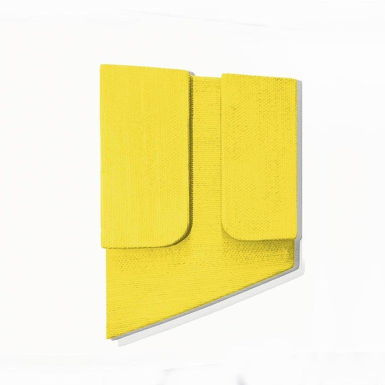 Untitled Yellow - Abstract Painting, Sculpture, Minimalism, Art, Jaime Poblete For Sale 2