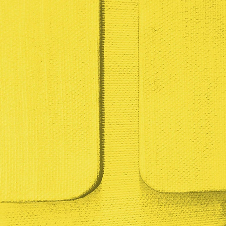 Untitled Yellow - Abstract Painting, Sculpture, Minimalism, Art, Jaime Poblete For Sale 1