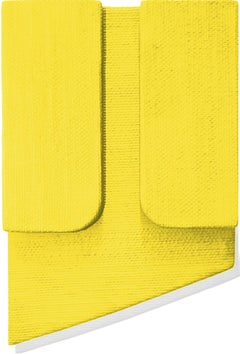 Untitled Yellow - Abstract Painting, Wall Sculpture, Minimalism, Jaime Poblete