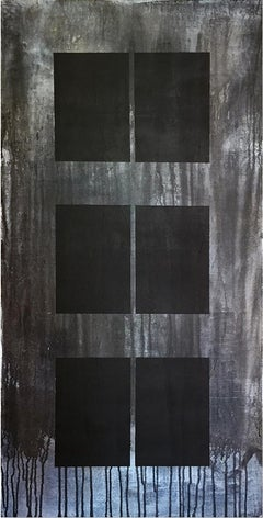 Libro Oscuro I - Painting, Black & White, Contemporary, Art, Norberto Sayegh