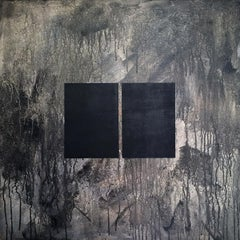 Libro oscuro 2 - Painting, Black & White, Contemporary, Art, Norberto Sayegh