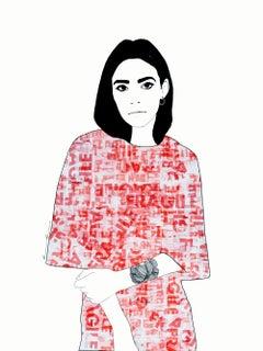 Fragile 5 - Digital Fine Art, Portrait, 21st Century, Ramona Russu, 2019