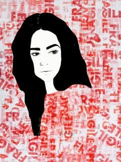 Fragile 2 - Mixed Media Collage,  Portrait, 21st Century, Ramona Russu, 2019