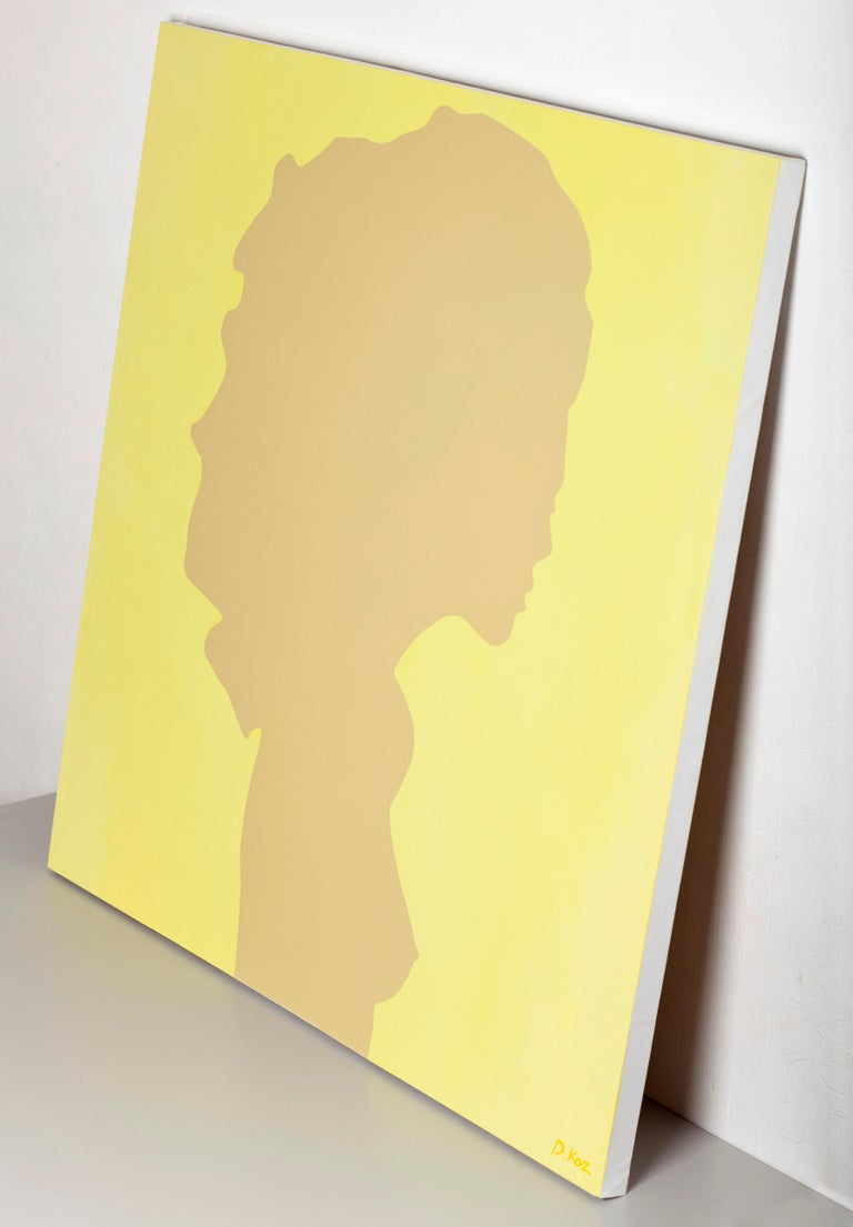Shadow of a young girl - Pop Painting, Acrylic on Canvas, Daniel Kozeletckiy For Sale 2