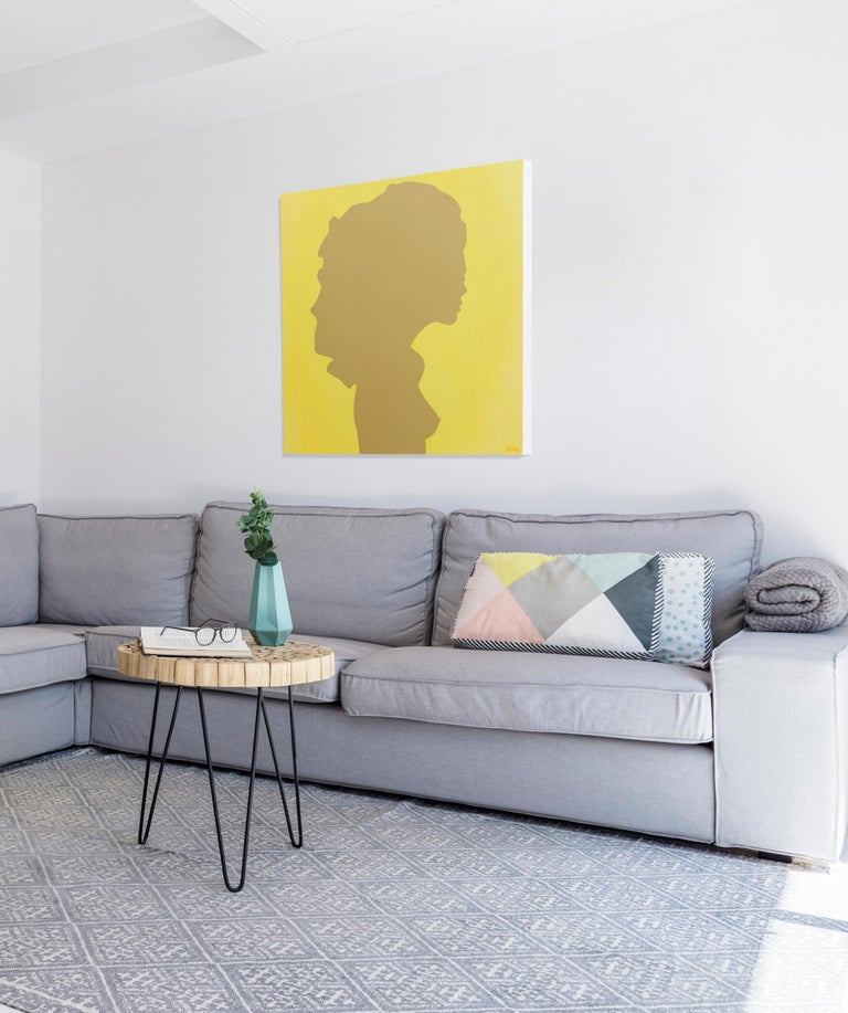 Shadow of a young girl - Pop Painting, Acrylic on Canvas, Daniel Kozeletckiy For Sale 5